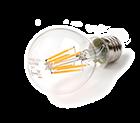 LED Lamp 230V, bol, 8W, Filament, Warmwit, E27, helder