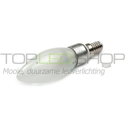 LED Lamp 230V, kaars, 3W, Extra Warmwit, E14, dimbaar, mat