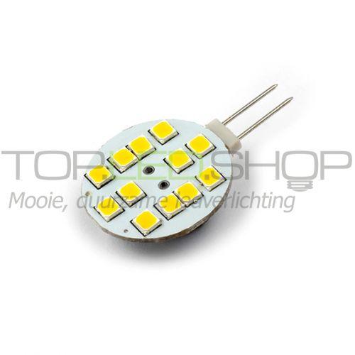 LED Lamp 12V, 1,8W, G4, Warmwit, horizontaal, dimbaar