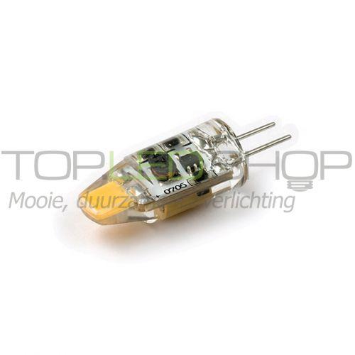 LED Lamp 12V, 1,2W, G4, Warmwit, horizontaal, dimbaar