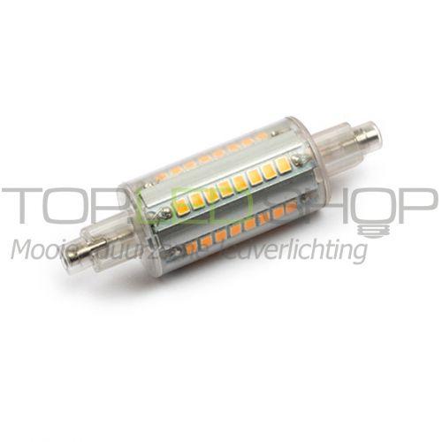 LED lamp 230V, 6W, R7S, Warmwit