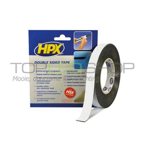 Dubbelzijdig foam tape, 12 mm, zwart